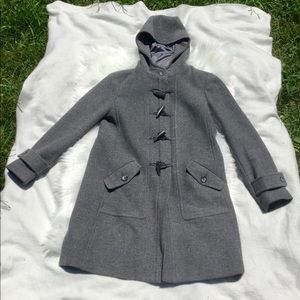 Gray Toggle Button Pea Coat